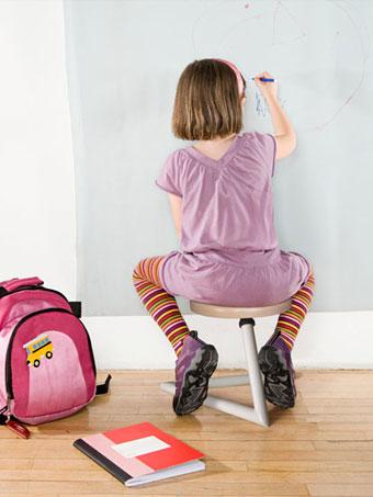 Wiebelkinderen kunnen zich beter concentreren op een Wiebelkruk