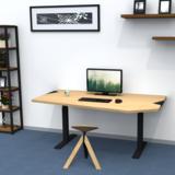 Combideal: Standaard zit-sta-tafel en Wigli-One wiebelkruk_