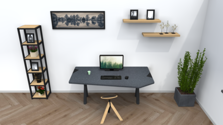 Combideal: Design zitstafel en Wigli-One wiebelkruk