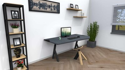 Sit-stand table Design met Wigli One